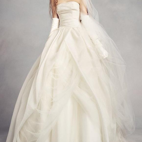 White by Vera Wang Dresses | Vera Wang Wedding Dress Belt Ball Gown ...